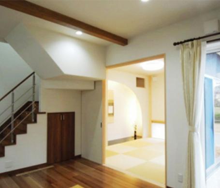 ☆モダンな和室を兼ね備えたバリアフリーの家