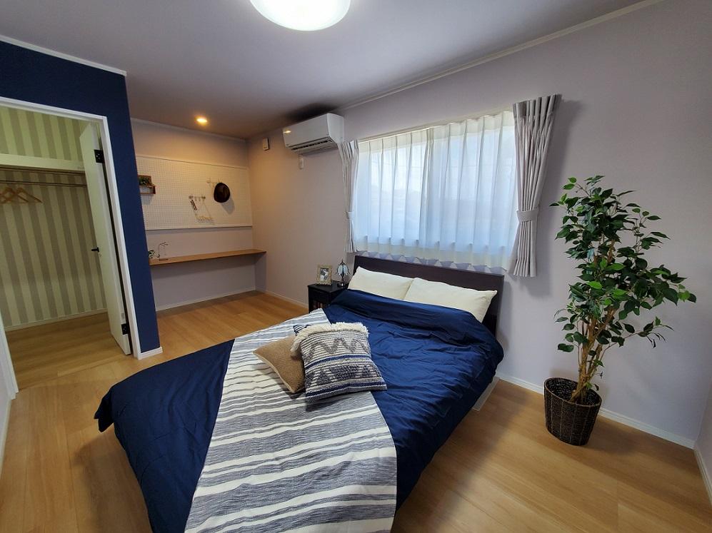寝室にはWICと書斎スペース